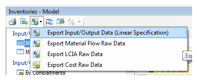 export input/output data as linear specification