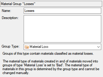 GroupType MaterialLoss
