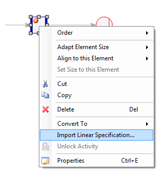 set linear specification from input/output table in Excel file